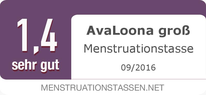 Testsiegel: AvaLoona groß Menstruationstasse