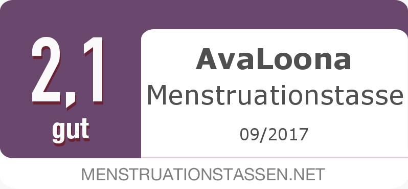 Testsiegel: AvaLoona Menstruationstasse width=