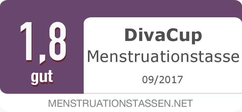 Testsiegel: DivaCup Menstruationstasse width=
