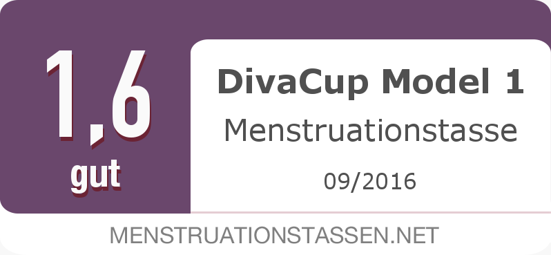 Testsiegel: DivaCup Model 1 Menstruationstasse