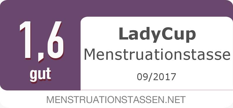 Testsiegel: LadyCup Menstruationstasse