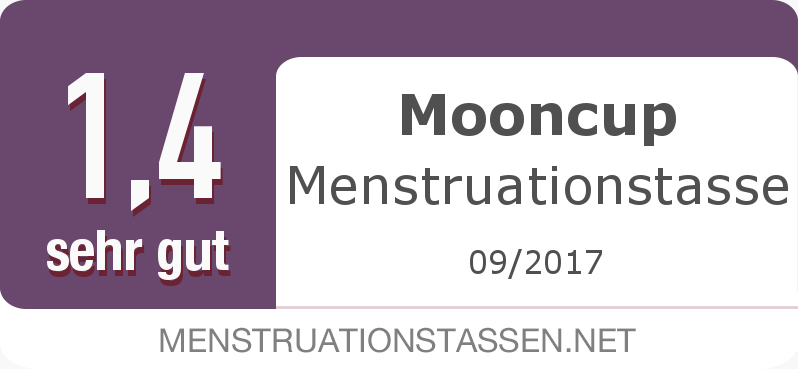Testsiegel: Mooncup Menstruationstasse