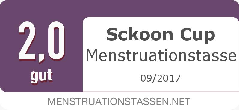 Testsiegel: Sckoon Cup Menstruationstasse
