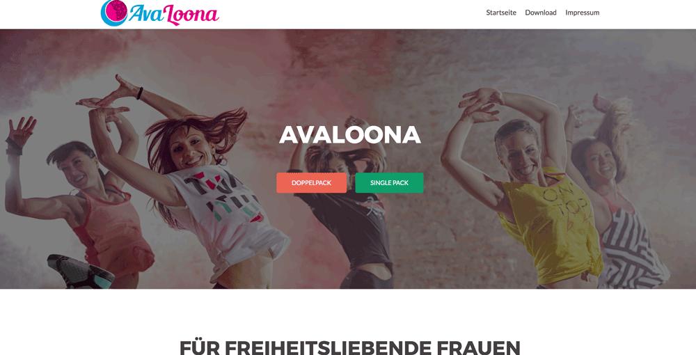 Die Webseite von AvaLoona