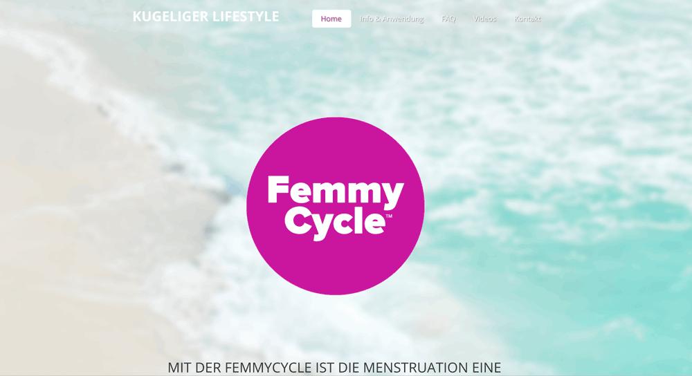 Die Webseite von FemmyCycle