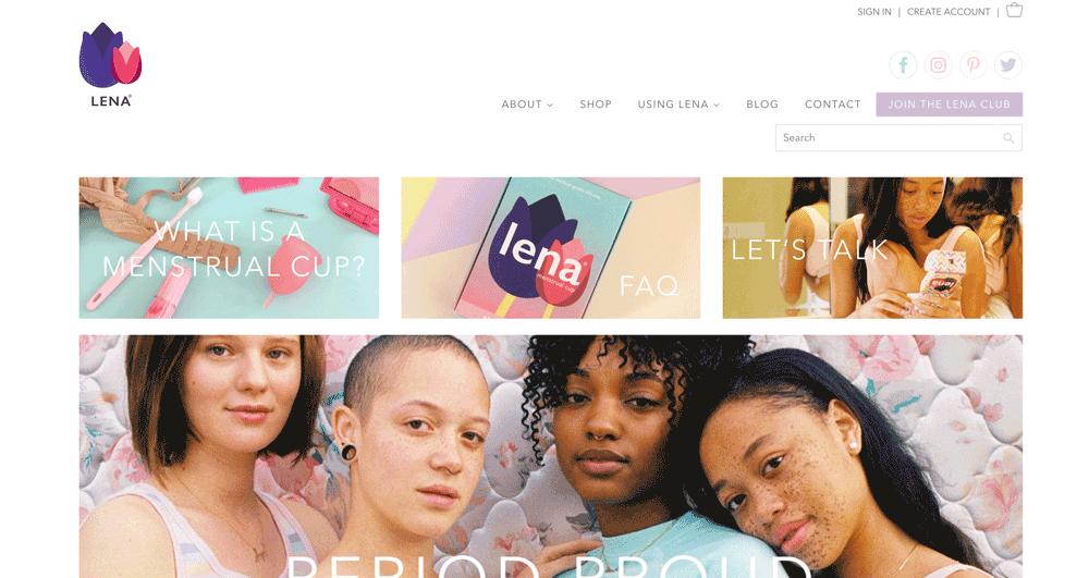 Die Webseite von Lena Cup