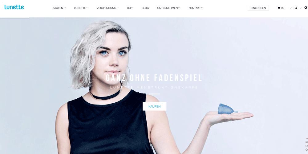 Die Webseite von Lunette